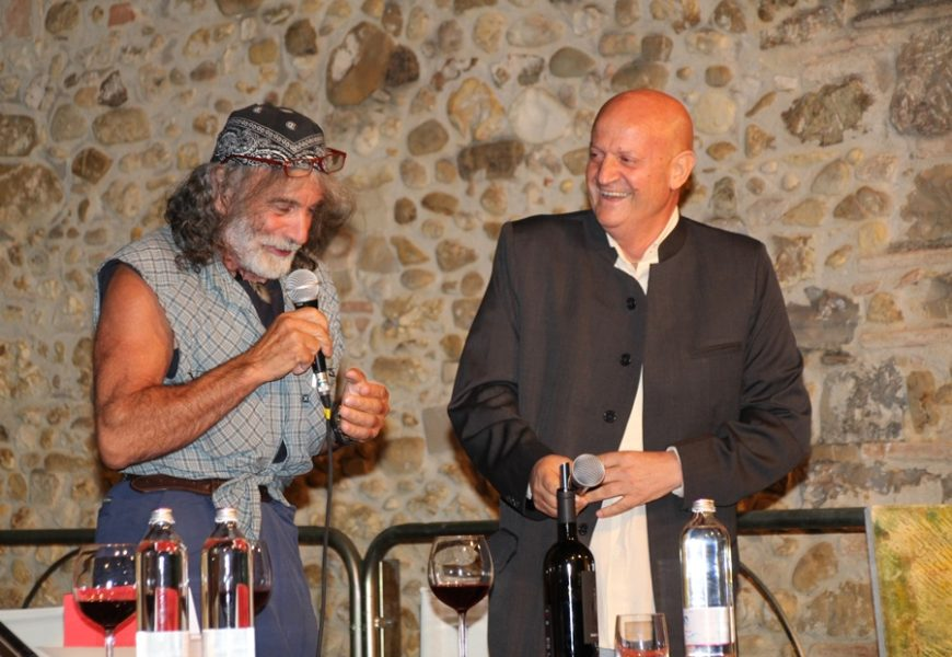 "Tignano Festival, awarded by Mauro Corona with the painting ""The Day After"""