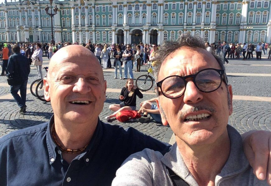 Città di Castello: The artists Giampaolo Tomassetti and Patrizio Landolfi at the Pushkinskaya Art Residency in St. Petersburg