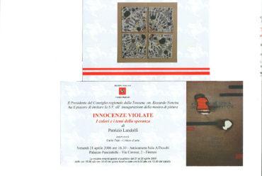 Mostra Personale a Firenze in Palazzo Panciatichi – Mostra: INNOCENZE VIOLATE
