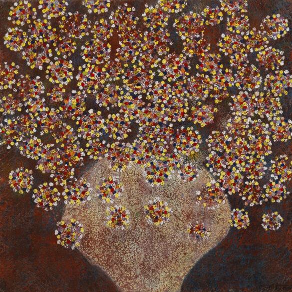 Floral fragmentations 2 cm.80×80